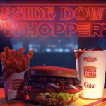 Upside down whopper at Burger King