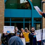 """Google employees protest the company's """"attempt to silence workers"""""""