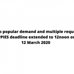 APPIES Malaysia 2020 extends closing date to 12 March