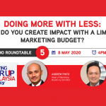 Low budget, high impact - How? Register now to find out.