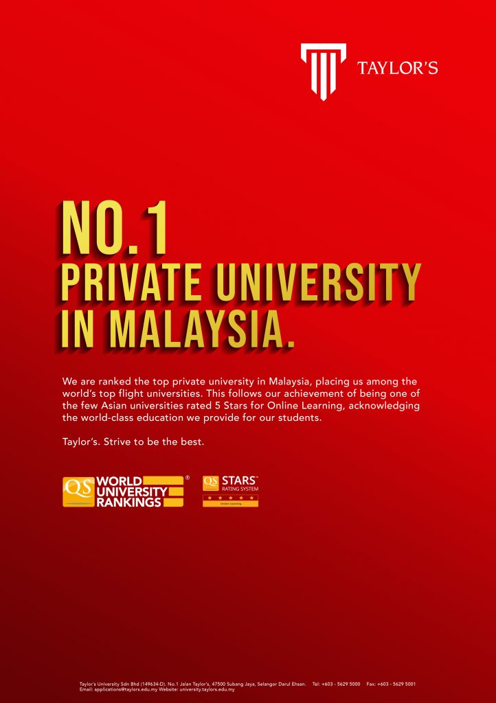 Taylor S Ranks As Best Private University In Malaysia Marketing Magazine Asia