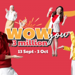 WOWSHOP WOW YOU 3 MILLION Celebrates with triple rewards to its customers!